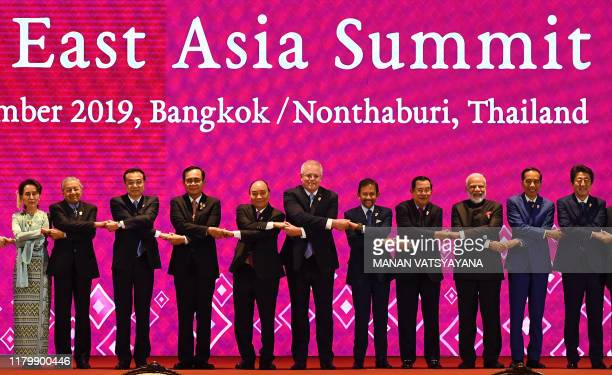 Myanmar's State Counsellor Aung San Suu Kyi, Malaysia's Prime Minister Mahathir Mohamad, China's Premier Li Keqiang, Thailand's Prime Minister Prayut...