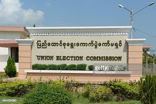 Myanmar's Union Election Commission headquarters in Naypyidaw is seen on October 27, 2015. The once junta-run nation heads to the polls on November...