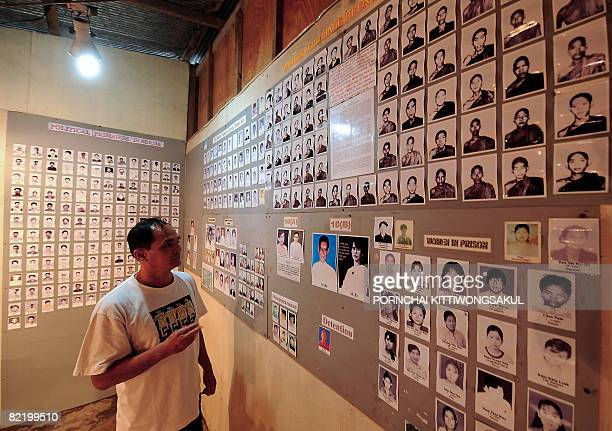 Myanmaruprising20yearsPROFILE by Charlie McDonaldGibson A visitor looks at pictures Myanmar studentled prodemocracy demonstrations from 1988...