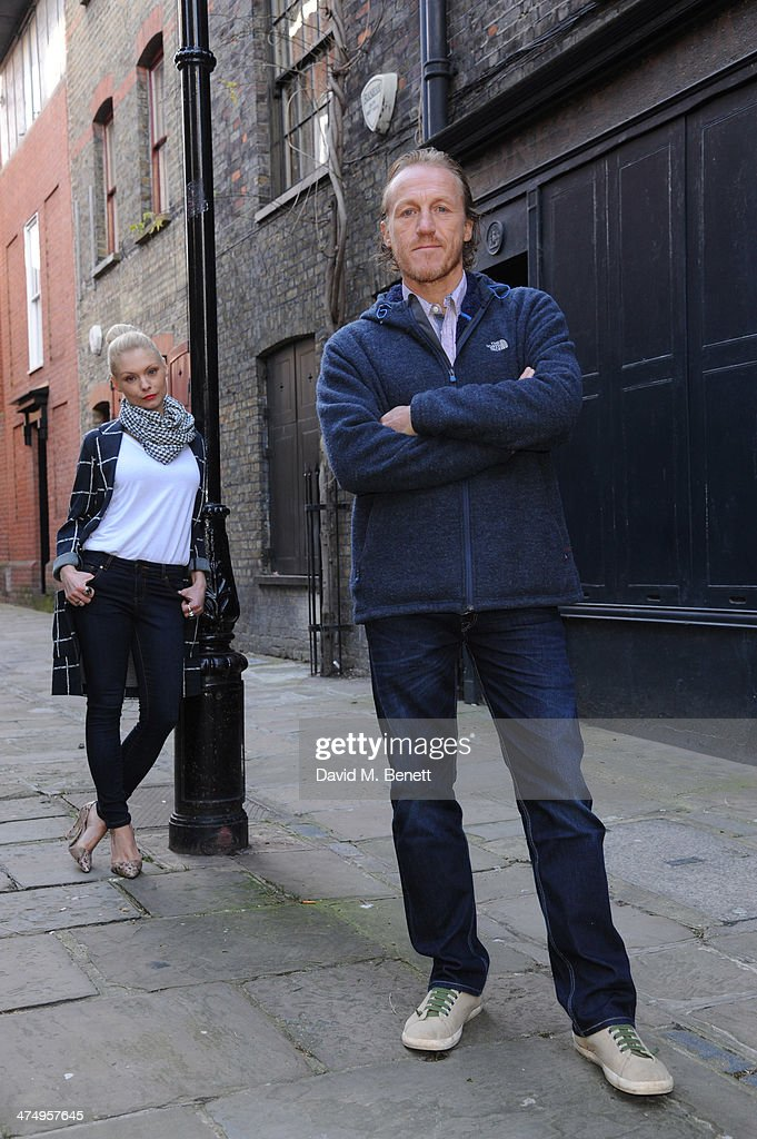 MyAnna Buring and Jerome Flynn pose for the launch of drama 'Ripper Street' on Amazon Prime Instant Video, on February 26, 2014 in London, England.