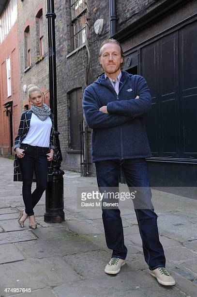 MyAnna Buring and Jerome Flynn pose for the launch of drama 'Ripper Street' on Amazon Prime Instant Video on February 26 2014 in London England