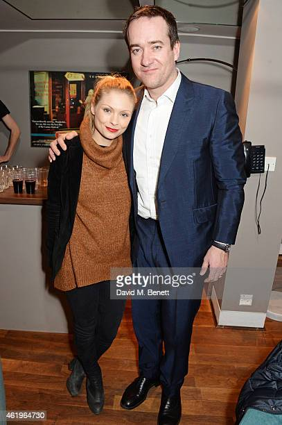 MyAnna Buring and Matthew Macfadyen attend a screening of Lost In Karastan during the 4th annual LOCO London Comedy Film Festival at BFI Southbank on...