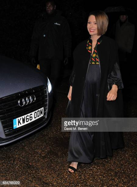 MyAnna Buring arrives in an Audi at the BAFTA Nespresso Nominees' Party at Kensington Palace on February 11 2017 in London England