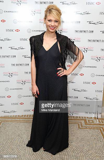 MyAnna Buring attends the 25th birthday party of Marie Claire at Hotel Cafe Royal on September 17 2013 in London England