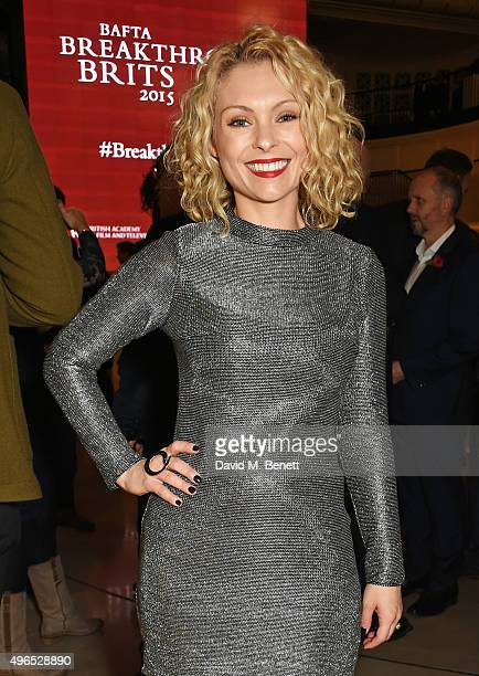 MyAnna Buring attends the BAFTA Breakthrough Brits reception in partnership with Burberry at 121 Regent Street on November 10 2015 in London England