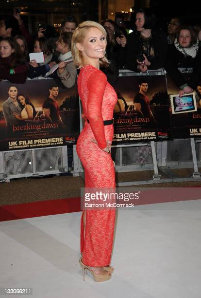 MyAnna Buring attends the UK premiere of The Twilight Saga Breaking Dawn Part 1 at Westfield Stratford City on November 16 2011 in London England