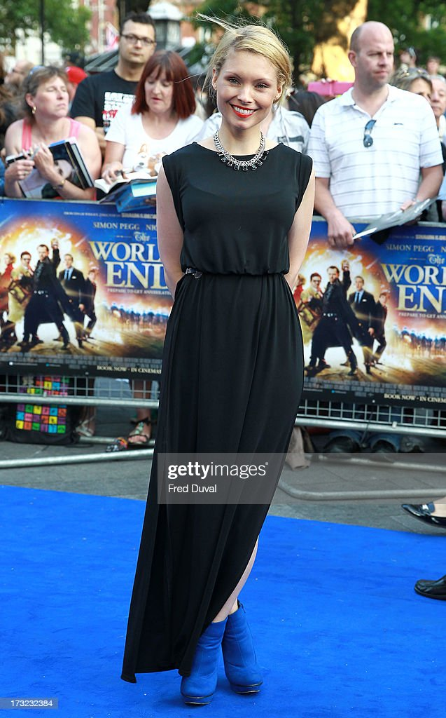 Myanna Buring attends the World film Premiere of 'The World's End' at The Empire Cinema on July 10, 2013 in London, England.