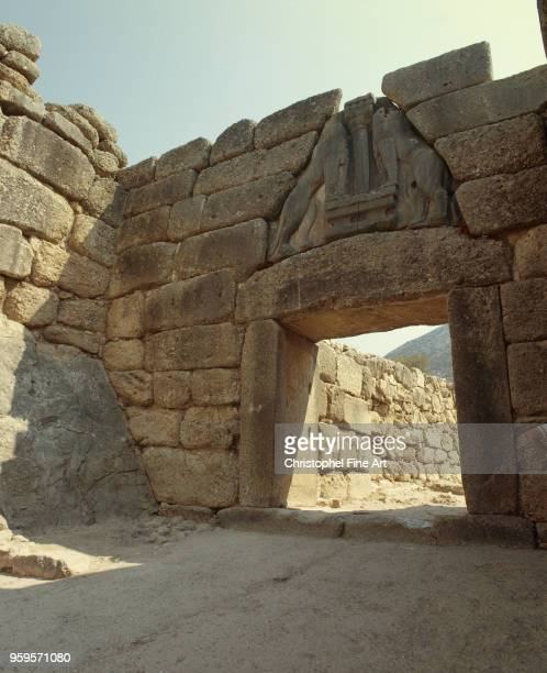 Mycenae the door lions 1250 BC Greek Art Mycenae Greece