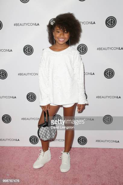Mychal Bella attends the Beautycon Festival LA 2018 at the Los Angeles Convention Center on July 14 2018 in Los Angeles California