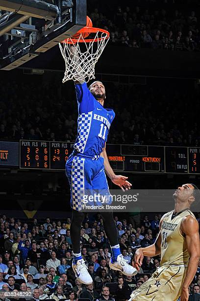 Mychal Mulder of the Kentucky Wildcats takes a shot against the Vanderbilt Commodores during an 8781 Kentucky victory at Memorial Gym on January 10...