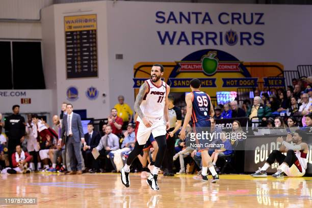 Mychal Mulder of the Sioux Falls Skyforce celebrates against the Santa Cruz Warriors during an NBA GLeague game on January 31 2020 at the Kaiser...