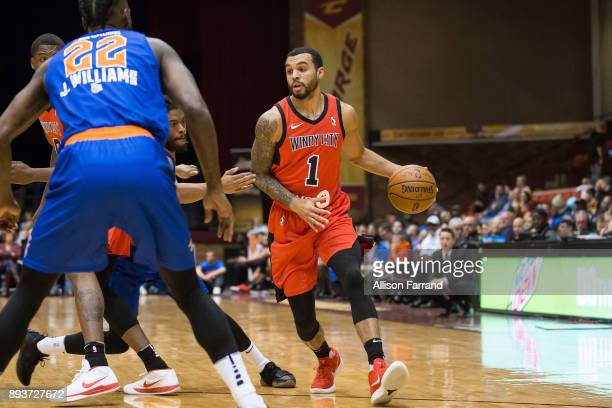 Mychal Mulder of the Windy City Bulls handles the ball against the Canton Charge on December 15 2017 at the Canton Memorial Civic Center in Canton...