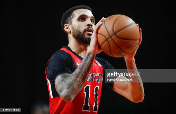 Mychal Mulder of the Windy City Bulls shoots a free throw against the Lakeland Magic during the second half of an NBA GLeague game on March 1 2019 at...