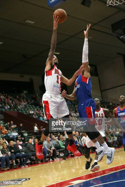 Mychal Mulder of the Windy City Bulls takes a shot against the Grand Rapids Drive at The DeltaPlex Arena for the NBA GLeague on NOVEMBER 16 2018 in...
