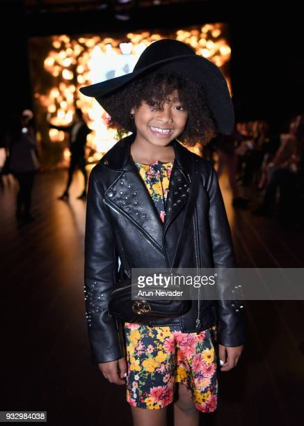 MychalBella Bowman Los Angeles Fashion Week Powered by Art Hearts Fashion LAFW FW/18 10th Season Anniversary Backstage and Front Row Day 5 at The...
