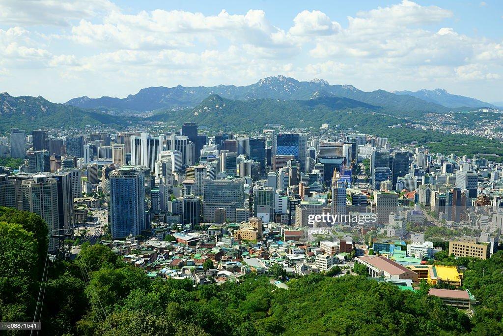 Myeongdong district : Stock Photo