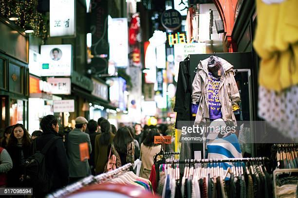 Myeongdong street in Seoul