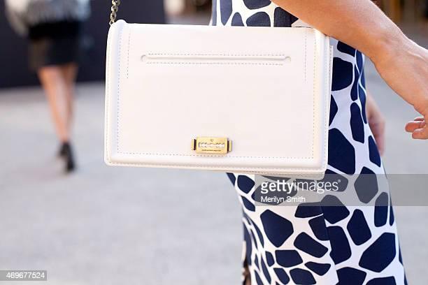 Myer Ambassador Jodi Anasta Wears A By Johnny Skirt And An Alexander Mcqueen Clutch At Mercedesbenz