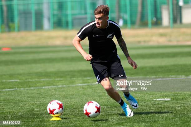 Myer Bevan in action during a New Zealand training session at Cheonan Football Centre on May 21 2017 in Cheonan South Korea