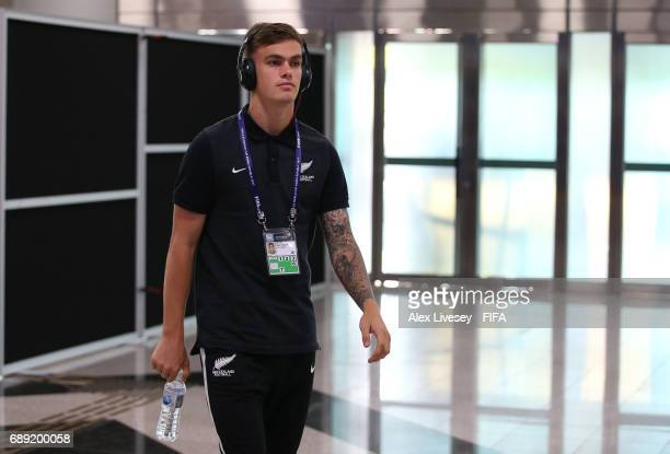 Myer Bevan of New Zealand arrives for the FIFA U20 World Cup Korea Republic 2017 group E match between New Zealand and France at Daejeon World Cup...