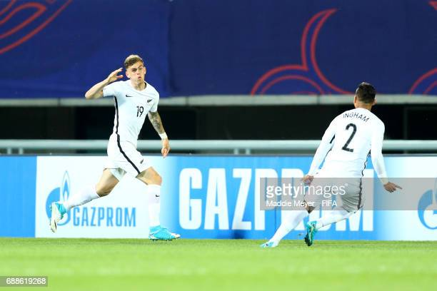 Myer Bevan of New Zealand celebrates after scoring a goal during the FIFA U20 World Cup Korea Republic 2017 group E match between New Zealand and...