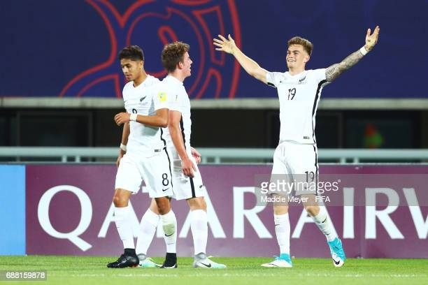 Myer Bevan of New Zealand celebrates after scoring his teams third goal during the FIFA U20 World Cup Korea Republic 2017 group E match between New...