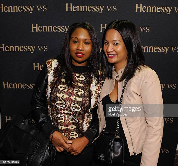 Myisha Brooks and Hennessy West Coast Marketing Manager ThuyAnh J Nguyen attend the Hennessy VS presents Nas Time Is Illmatic Los Angeles tour at the...