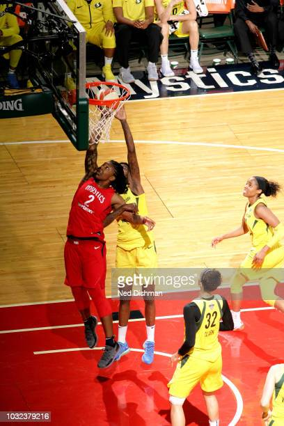 Myisha HinesAllen of the Washington Mystics shoots the ball against the Seattle Storm during Game Three of the 2018 WNBA Finals on September 12 2018...