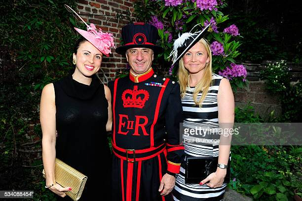 Myka Meier Alan Kingshott and Vera Batichev attend Historic Royal Palaces Patrons Secret Garden Party at Merchant's House Museum on May 24 2016 in...