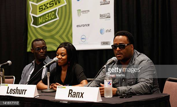 Mykaell Riley Head of Music Production Univeristy Westminster Lady Leshurr and DJ Robbo Ranx speak onstage at Bass Culture The Influence of Reggae...