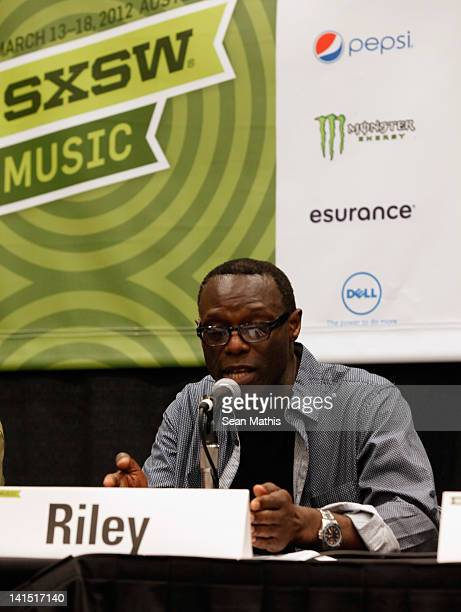 Mykaell Riley Head of Music Production Univeristy Westminster speaks onstage at Bass Culture The Influence of Reggae Music in Britain and Beyond...