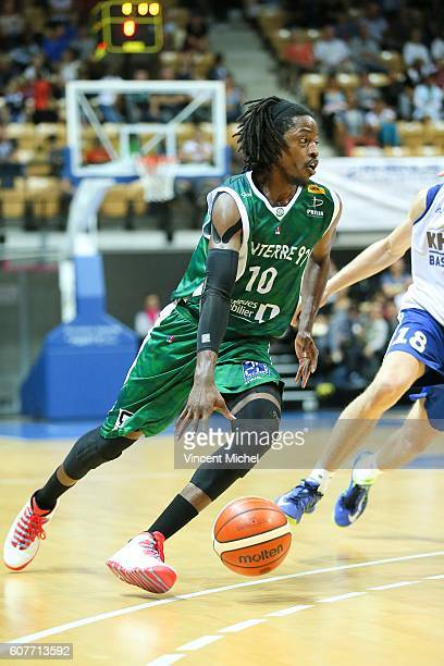 Mykal Riley of Nanterre during the match for the 3rd and 4th place between Nanterre and Khimki Moscow at Tournament ProStars at Salle Arena Loire on...
