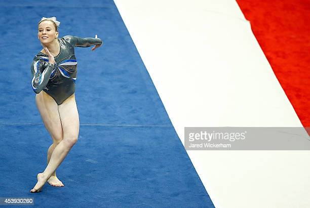 MyKayla Skinner competes in the floor exercise of the senior women preliminaries during the 2014 PG Gymnastics Championships at Consol Energy Center...