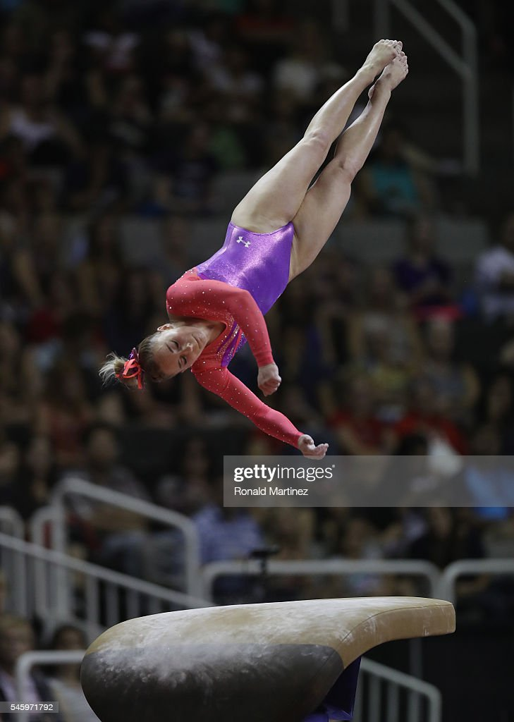MyKayla Skinner competes on the vault during day 1 of the 2016 U.S. Olympic Women's Gymnastics Team Trials at SAP Center on July 8, 2016 in San Jose, California.