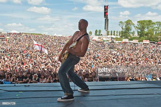 Myke Gray of Skin performs on stage on day 3 of the Download Festival at Donnington Park on June 14 2009 in Donnington England