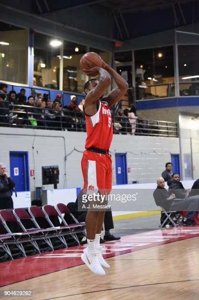 Myke Henry of the Memphis Hustle shoots the ball during the NBA GLeague Showcase Game 25 between the Memphis Hustle and the Maine Red Claws on...