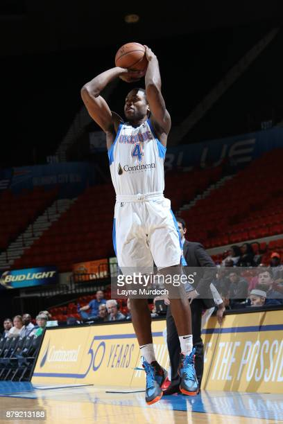 Myke Henry of the Oklahoma City Blue shoots the ball during a NBA GLeague game against the Agua Caliente Clippers on November 25 2017 at the Cox...