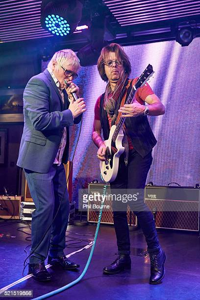 Myke Scavone and Johnny A of The Yardbirds at Under The Bridge on April 15 2016 in London England