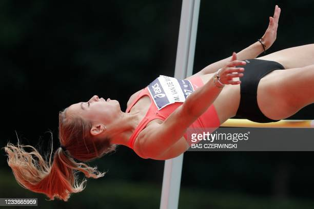 Myke van de Wiel competes in the high jump contest of the Dutch Athletics Championships in Breda, on June 26, 2021. - Netherlands OUT / Netherlands...