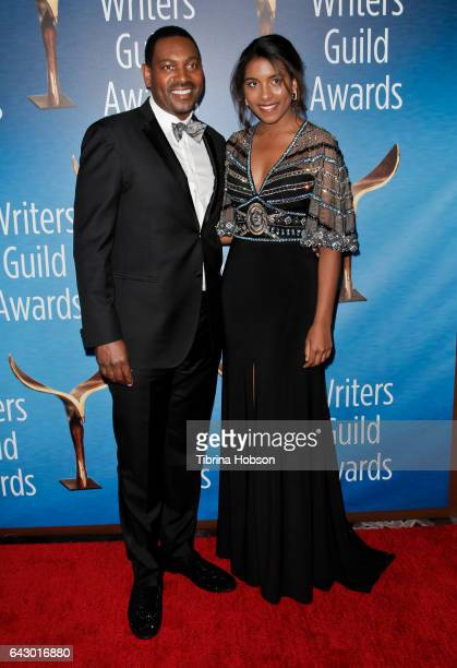 Mykelti Williamson and his daughter, Nikki Williamson, attend the 2017 Writers Guild Awards L.A. Ceremony at The Beverly Hilton Hotel on February 19,...