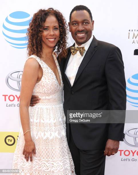 Mykelti Williamson and Sondra Spriggs arrive at the 48th NAACP Image Awards at Pasadena Civic Auditorium on February 11 2017 in Pasadena California