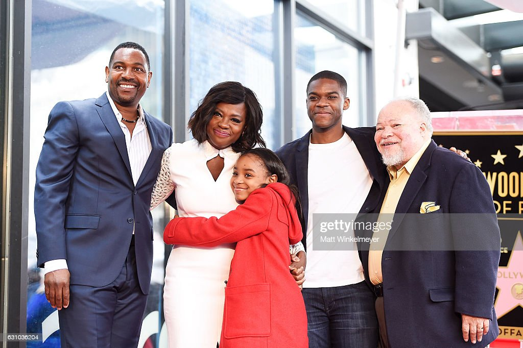 Mykelti Williamson, Viola Davis, Saniyya Sidney, Jovan Adepo and Stephen Henderson attend a ceremony honoing Viola Davis with a star on the Hollywood Walk of Fame on January 5, 2017 in Hollywood, California.