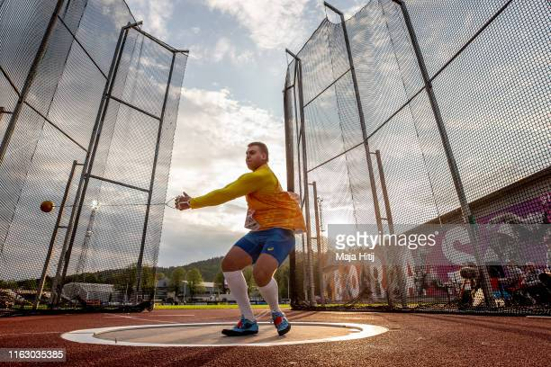 Mykhaylo Kokhan of Ukraine competes during Hammer Throw Men Final on July 19 2019 in Boras Sweden