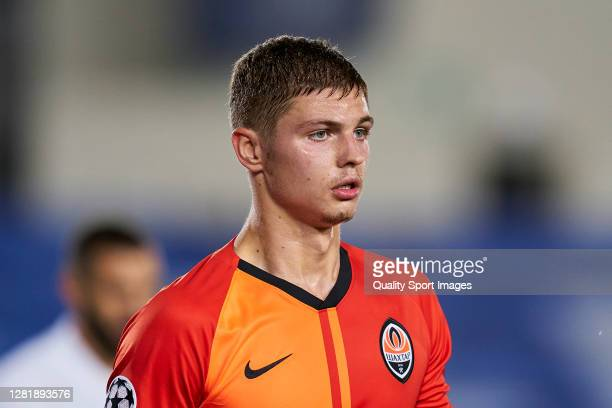 Mykola Matvienko of Shakhtar Donetsk looks on during the UEFA Champions League Group B stage match between Real Madrid and Shakhtar Donetsk at...