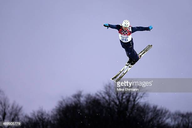 Mykola Puzderko of the Ukraine competes in the Freestyle Skiing Men's Aerials Qualification on day ten of the 2014 Winter Olympics at Rosa Khutor...