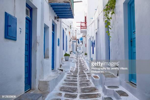 mykonos, greece - griechenland stock-fotos und bilder