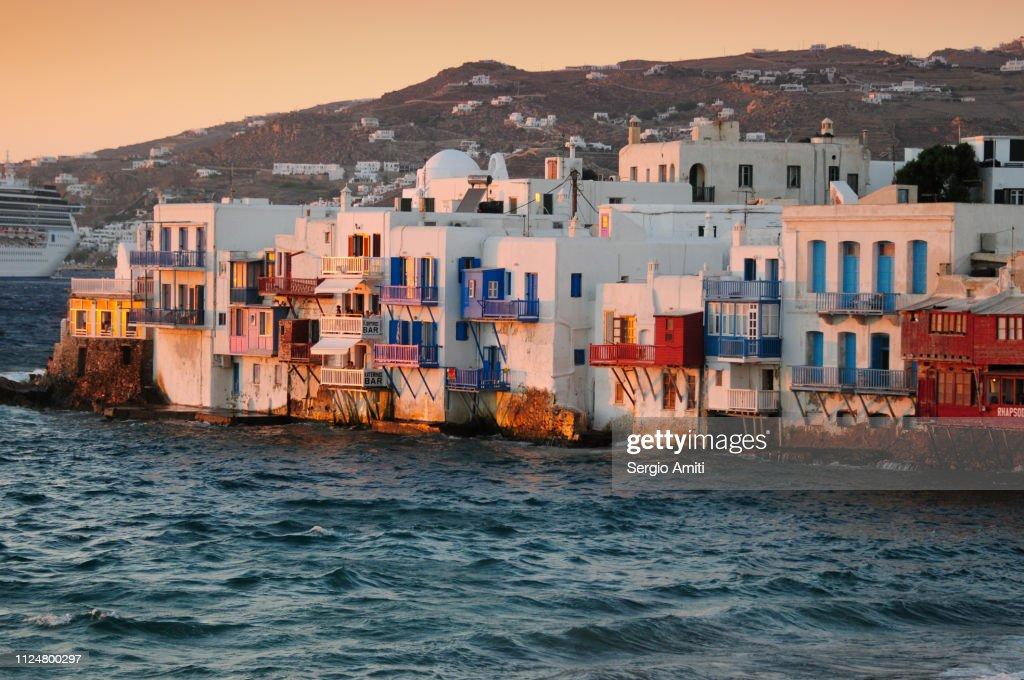 Mykonos Little Venice : Stock Photo