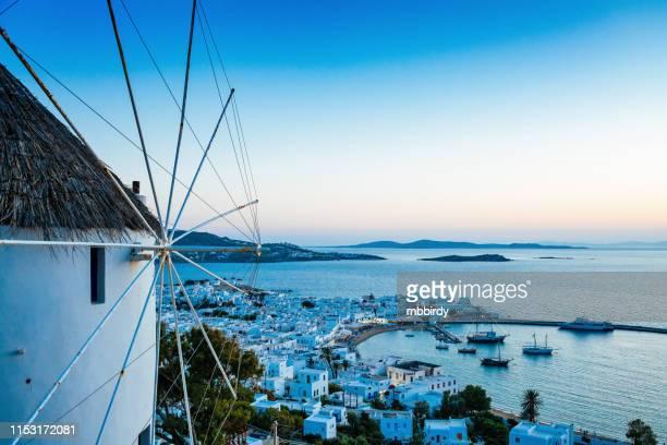 mykonos stadt, mykonos insel, griechenland - griechenland stock-fotos und bilder