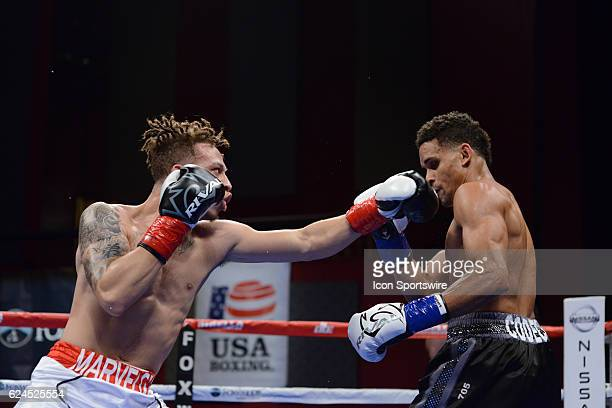 Mykquan Williams battles Jimmy Rosario during their Heavyweight bout on November 19 2016 at the Fox Theater in Mashantucket Connecticut Mykquan...