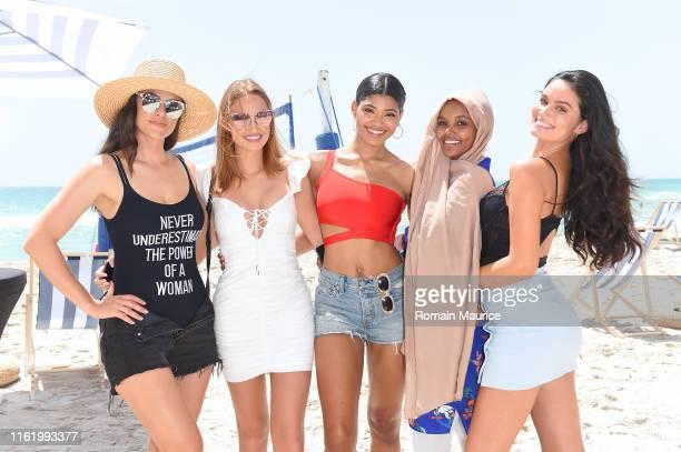 Myla De Blasio Haley Kalil Danielle Herrington Halima Aden and Anne de Paula attend the Duke Spirits And Sports Illustrated Mix Off At The Model...